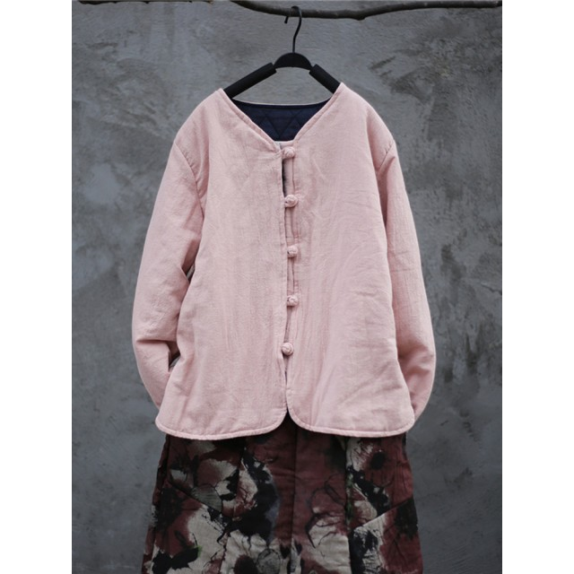 Women Long Sleeve Solid Color Short Quilted Coat