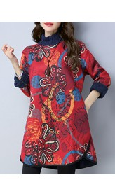 Floral Printed Thicken Dress