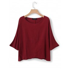 M-5XL Casual Women Solid Color Shirts
